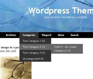 WordPress橫式下拉選單