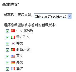 Global Translator繁體中文化 wordpress翻譯外掛