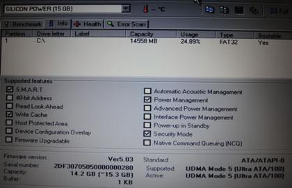 HD Tune 2.55 Info